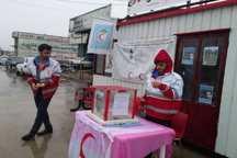 19 پایگاه هلال احمر برای جمع آوری کمک به سیل زدگان دایر شد