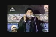 روضه خوانی مرحوم کوثری در حضور امام خمینی(س) در حسینیه جماران
