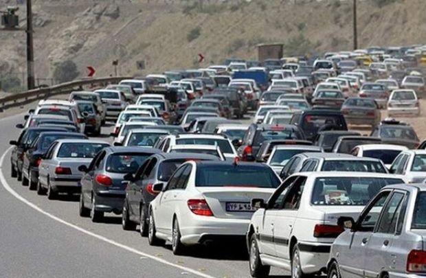 ترافیک جاده کرج – چالوس سنگین است