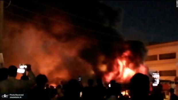 عکس/ آتش سوزی بیمارستان «امام حسین (ع)»