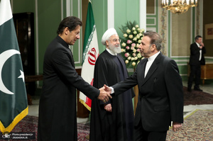 استقبال رسمی رئیس جمهور از نخست وزیر پاکستان