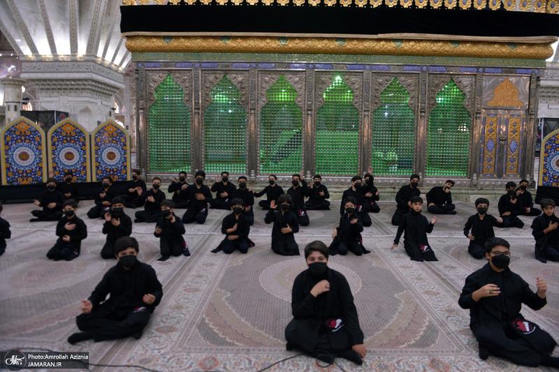 مراسم سوگواری احلی من العسل در حرم مطهر امام خمینی(س)