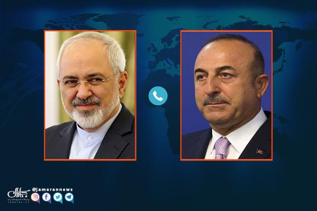 گفت و گوی تلفنی ظریف با وزیر خارجه ترکیه