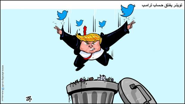 کاریکاتور/انداختن ترامپ در زباله دان