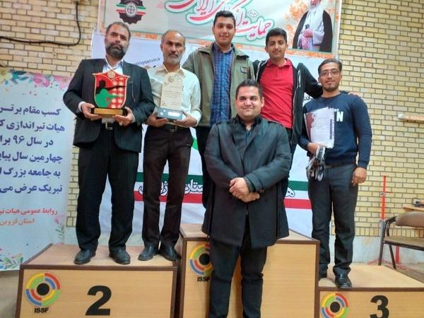 تیم هدف آبیک در مسابقات لیگ تیراندازی قزوین نایب قهرمان شد