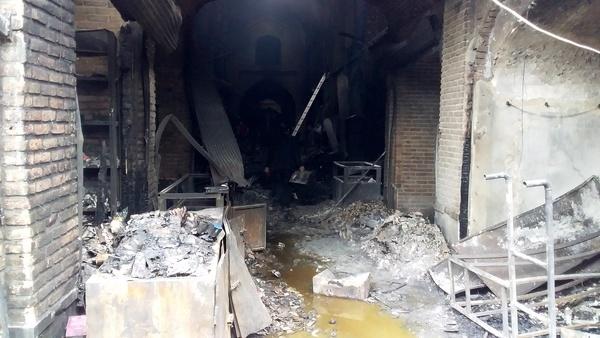 علت آتش سوزی بازار تبریز اتصال برق بوده است  خبر ایلنا درست بود