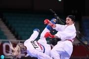 کاراته المپیک 2020 توکیو  سارا بهمنیار از صعود به نیمهنهایی بازماند+ عکس و ویدیو