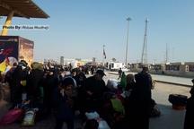 تصاویر/ زائران اربعین در مرز شلمچه