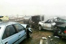 5 کشته و مصدوم در تصادف زنجیرهای زاهدان- خاش