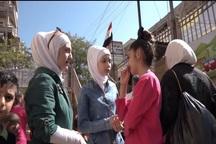 تصاویر/ بازگشت دختر معلول سوری به زندگی عادی
