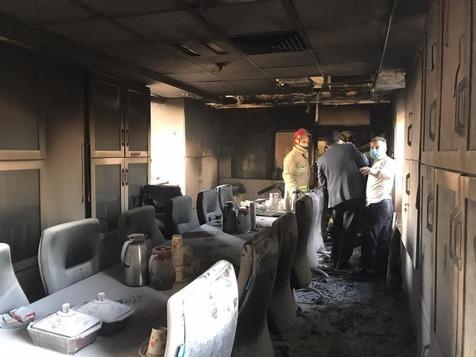 آتش سوزی در بیمارستان بقیه الله تهران + عکس