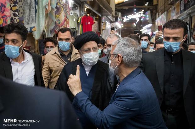 رییسی به بازار تهران رفت + عکس
