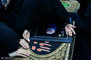 مراسم خاکسپاری حجت الاسلام و المسلمین محتشمی پور(ره) در حرم شاه عبدالعظیم الحسنی(ع)
