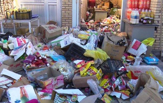 بیش از 1.5 تن مواد غذایی فاسد معدوم شد