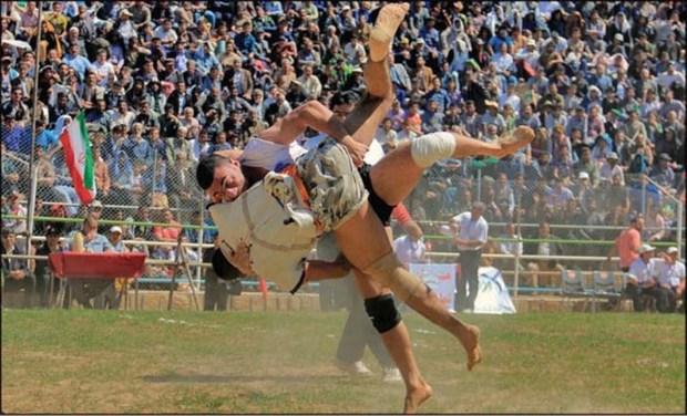 مسابقات منطقه ای کشتی باچوخه در خوشاب برگزار شد