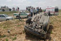 واژگونی پنج خودرو 13 مجروح بر جای گذاشت