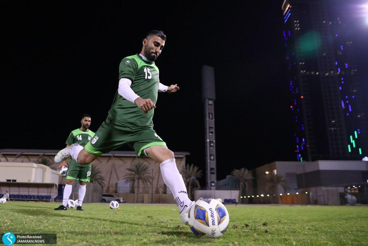 آماده باش تیم ملی فوتبال در منامه + عکس
