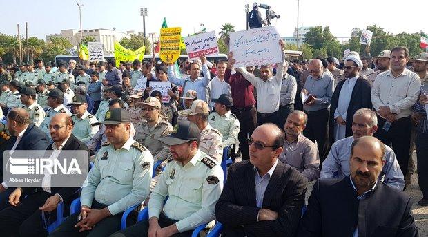 طنین فریاد استکبار ستیزی در استان بوشهر