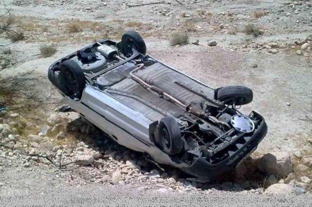 واژگونی خودرو در مسیر خرانق به ساغند اردکان ۲ کشته برجا گذاشت