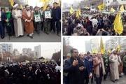 پیکر مطهر ۲ شهید مدافع حرم در مشهد تشییع شد