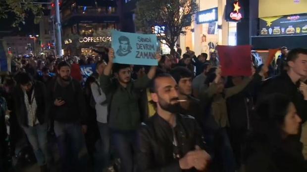 اعتراض مخالفان اردوغان در استانبول