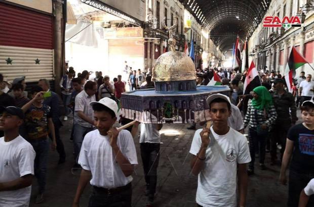 برگزاری روز جهانی قدس در دمشق+تصاویر
