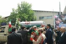 پیکر مطهر جانباز شهید «علی پاشا حسینی» در خوی تشییع شد