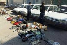 دستگیری سارق قطعات خودرو در تاکستان