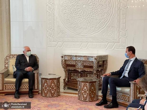 جزییات دیدار بشار اسد با ظریف
