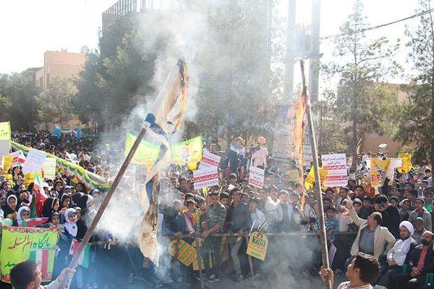 برگزاری راهپیمایی روز مبارزه با استکبار جهانی در میبد
