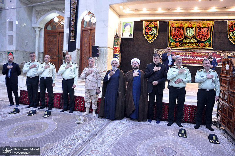 عزاداری دانشجویان دانشگاه علوم انتظامی امین در حرم مطهر امام خمینی(س)