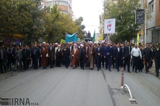 مسیرهای راهپیمایی ۱۳ آبان در مهاباد اعلام شد