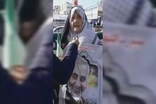 عرض ارادت یک پیرزن ۱۰۰ ساله به سردار سلیمانی