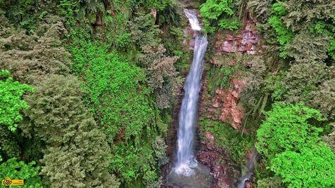 آبشار گزو، در دل جنگل های لفور