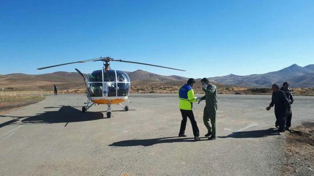 مصدوم قطع دست دیواندرهای با بالگرد اورژانس هوایی اعزام شد