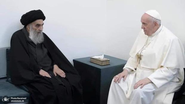 شعر افشین علا به مناسبت دیدار پاپ فرانسیس و آیت الله سیستانی