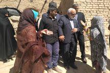 رئیس کمیته امداد از روستاهای درمیان بازدید کرد