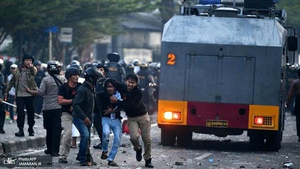 بیش از 200 کشته و زخمی در اعتراضات اندونزی+ تصاویر
