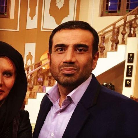 عکسی دیده نشده از نصرالله رادش و پسرش