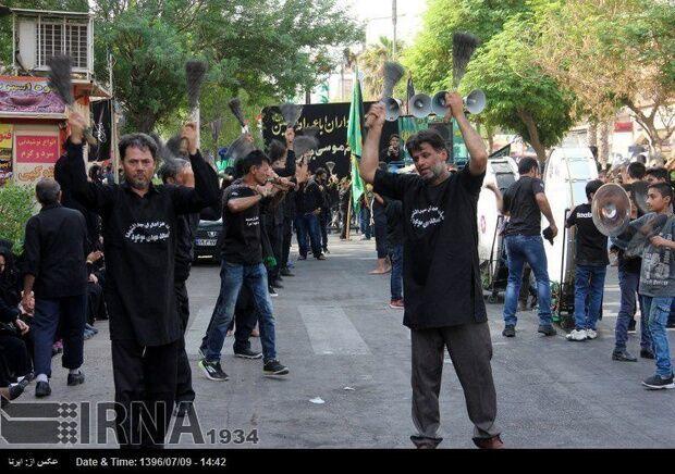 طنین نوای حزن انگیز یاحسین(ع) در عاشورای خوزستان
