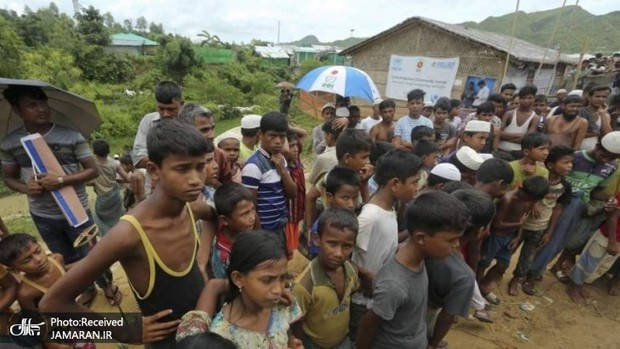 عکس/ پناهجویان روهینگیایی: «از زیر باران تا زیر ناودان!»
