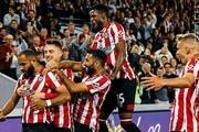 جام اتحادیه انگلیس  برنتفورد با پاس گل قدوس برد