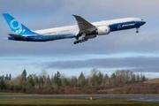 پرواز اولین هواپیمای جهان با غول پیکرترین موتور جت دوقلو