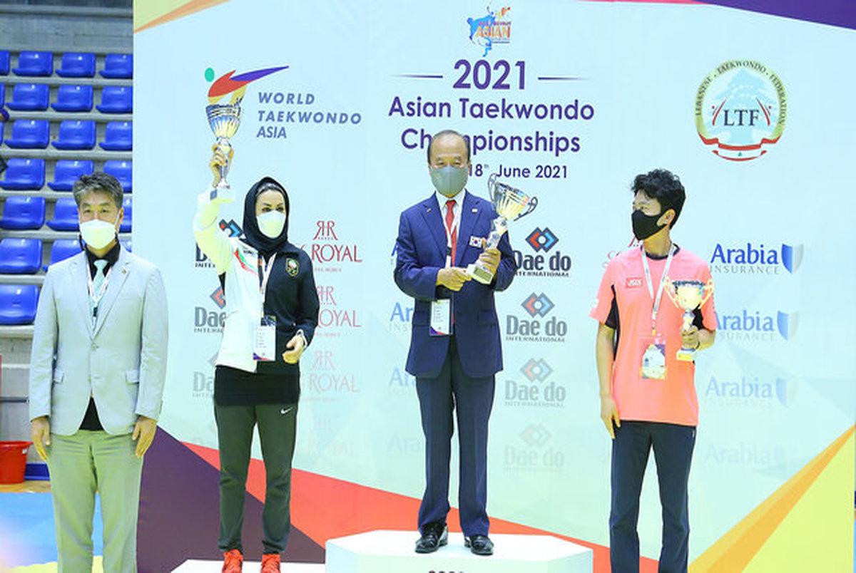 تاریخسازی زنان تکواندوکار ایران با کسب عنوان نایب قهرمانی در آسیا