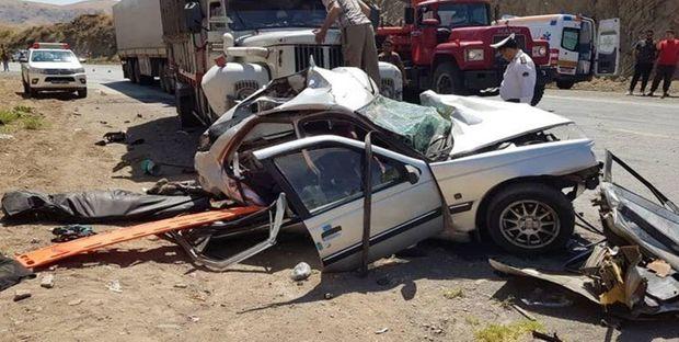 تصادف مرگبار در محور یاسوج به اصفهان