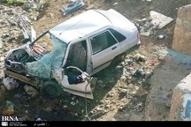 سقوط خودرو در آزادراه کاشان- قم یک کشته برجای گذاشت