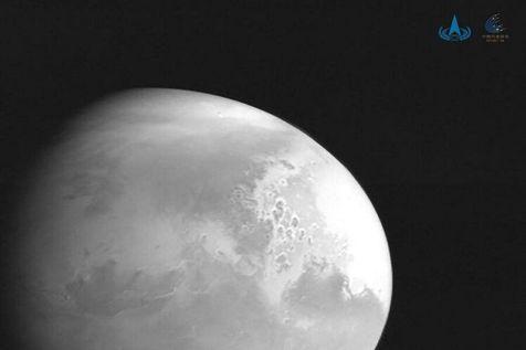 کاوشگر چینی مریخ نخستین عکس از این سیاره را ارسال کرد