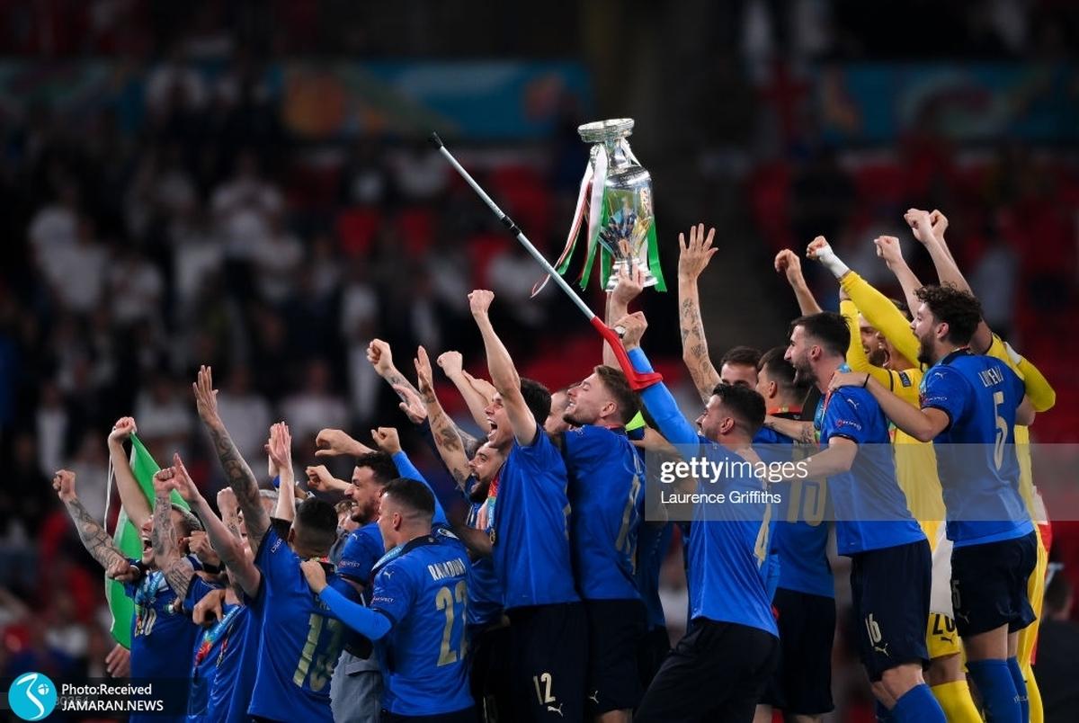 ویدیو/ لحظه ورود کاروان تیم ملی ایتالیا به رم در میان هواداران