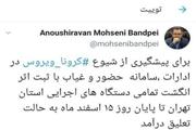 تعلیق سامانه حضوروغیاب ثبت اثرانگشت دستگاه های اجرایی استان تهران