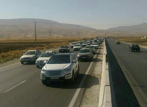 وضعیت ترافیکی جاده ها در آخر هفته